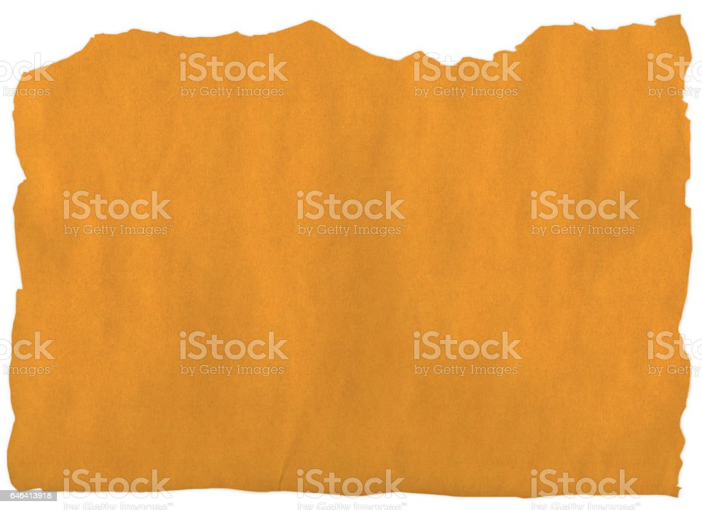 Old yellow paper rip stock photo