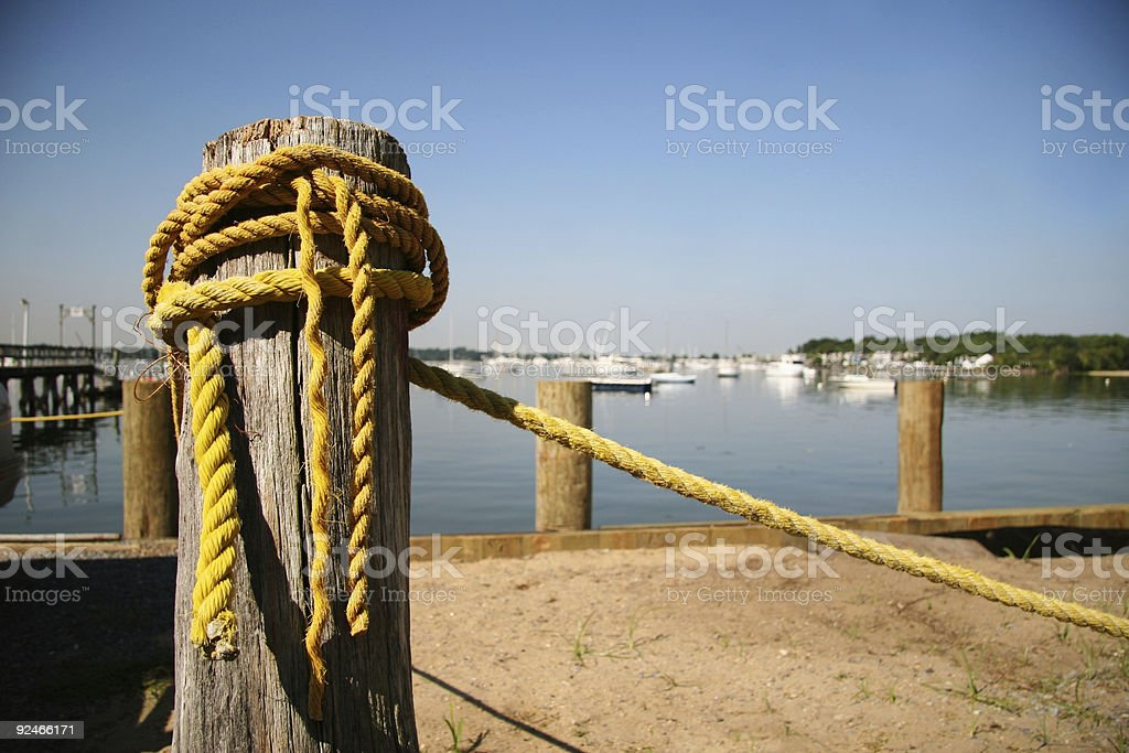 Old yellow rope royalty-free stock photo