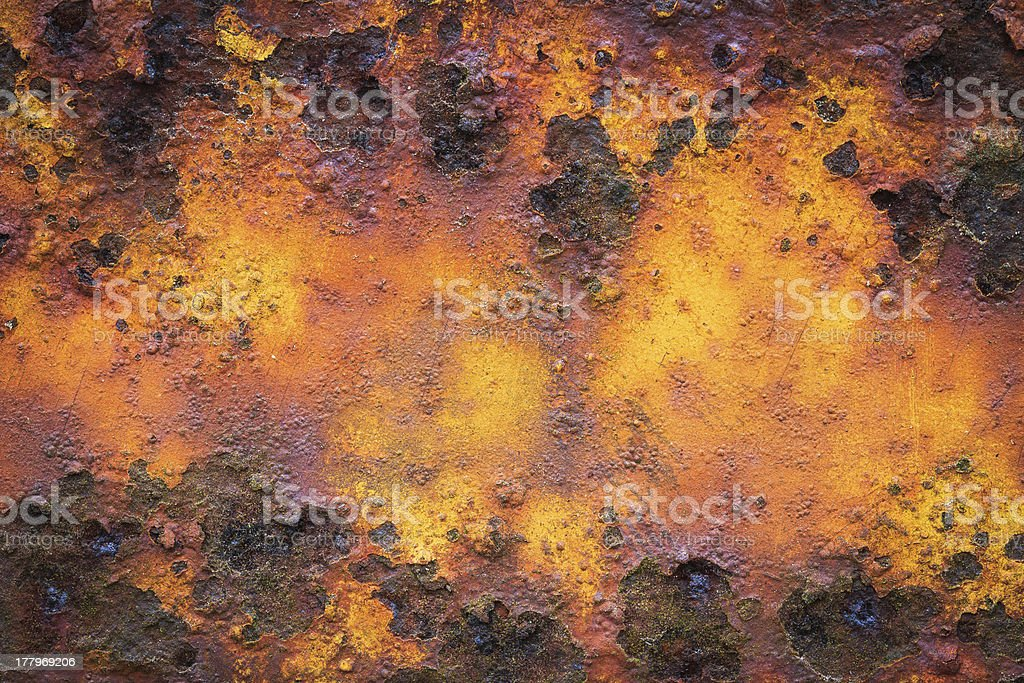 Old yellow rusty metal royalty-free stock photo