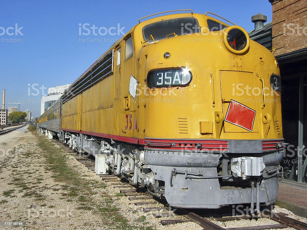 Old Yellow Train stock photo