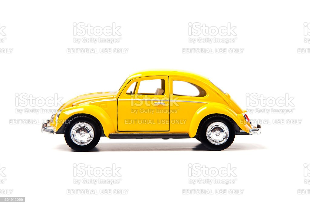 Old Yellow Volkswagen Beetle stock photo