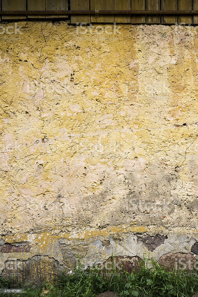 Old yellow wall royalty-free stock photo