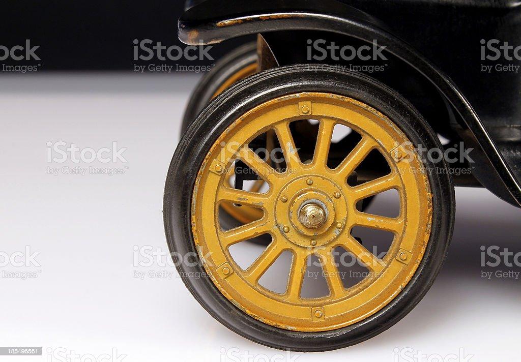 Old Yellow Wheel stock photo