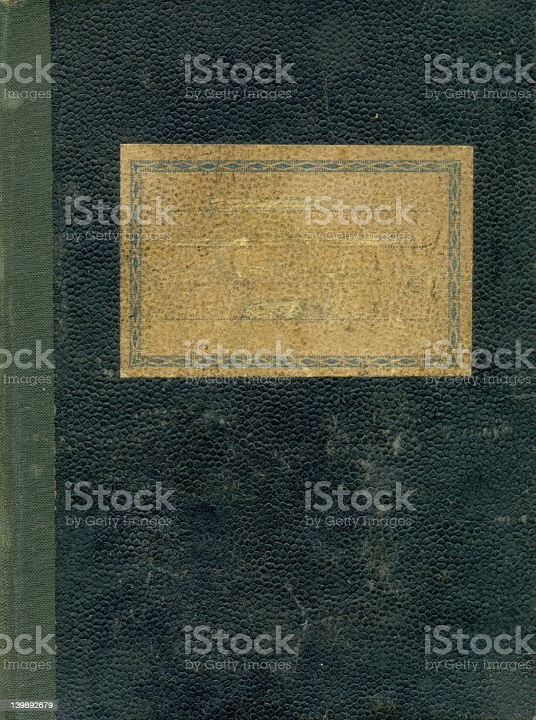Old yellowed bound notebook cover royalty-free stock photo