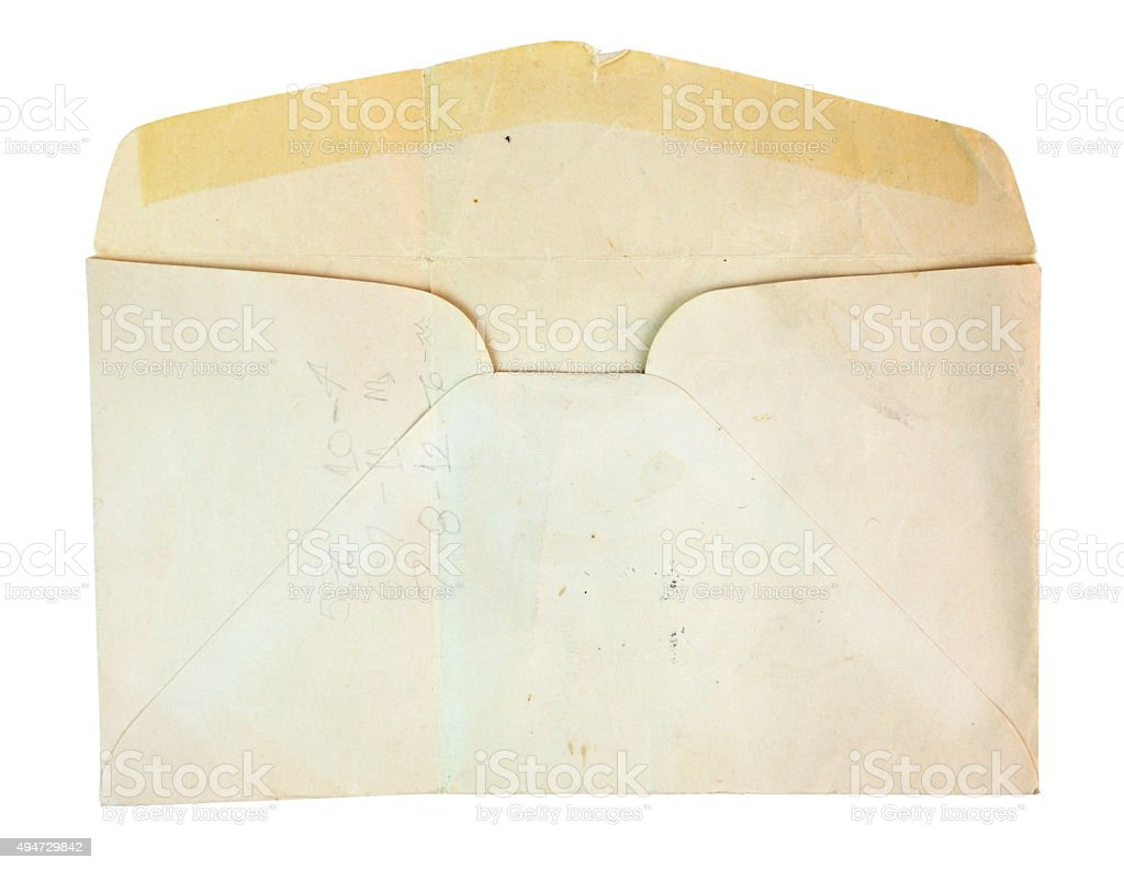Old Yellowed Envelope stock photo