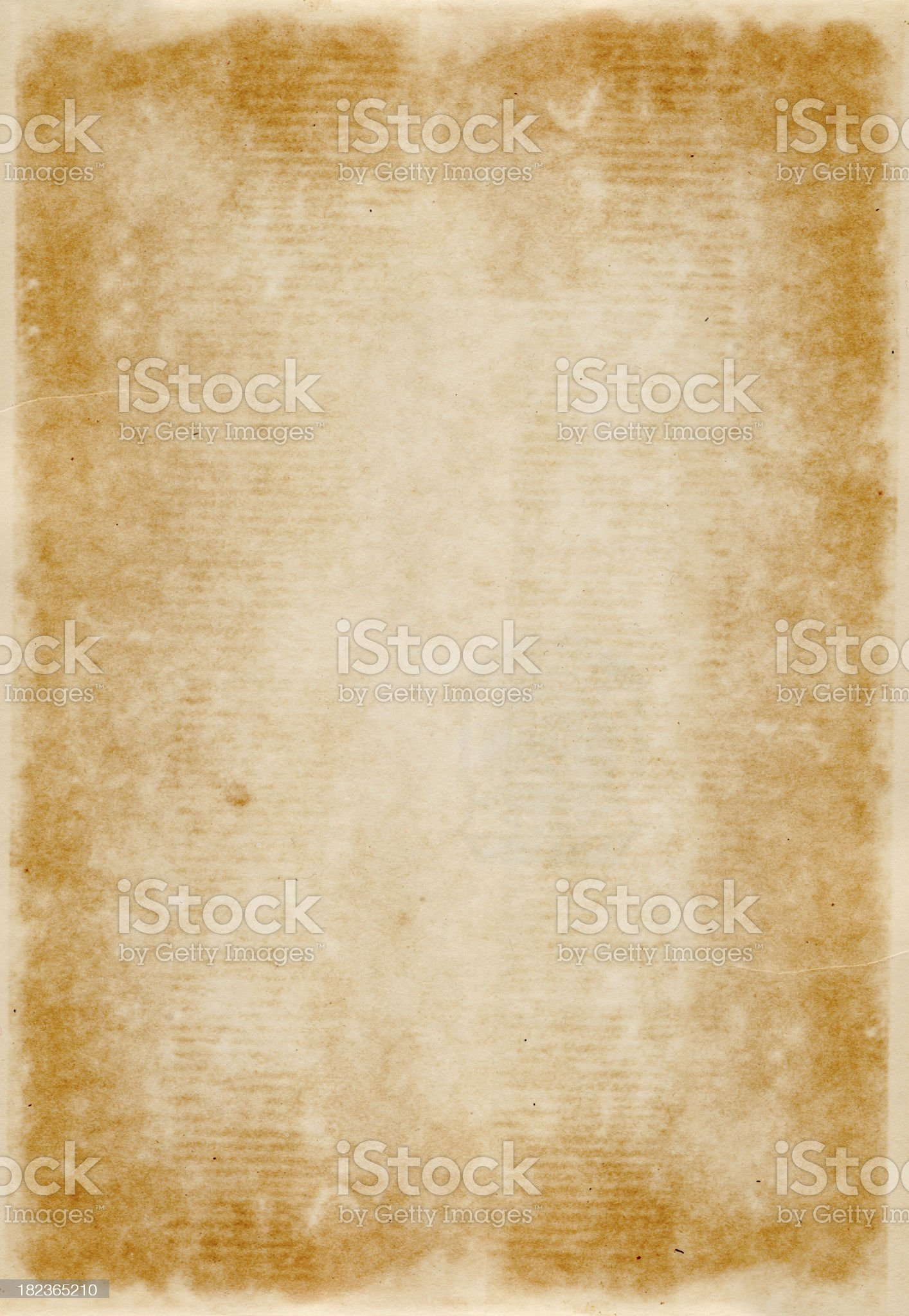 Old yellowed paper royalty-free stock photo