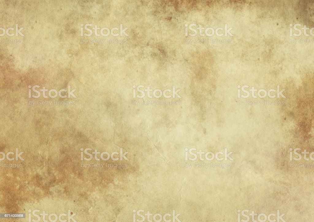 Old yellowed paper texture. Grunge style. stock photo
