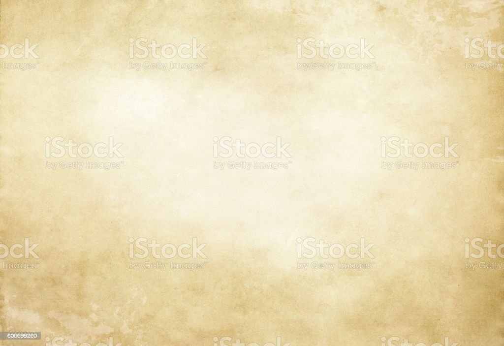 Old yellowed paper texture or background. stock photo