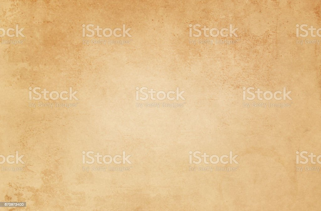 Old yellowed paper texture. stock photo