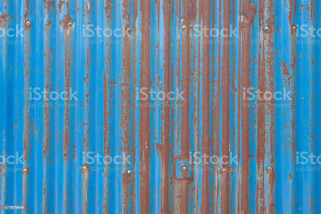 Old zinc rust sheet with beautiful royalty-free stock photo