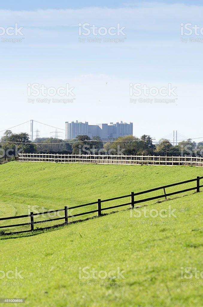 Oldbury nuclear power station stock photo