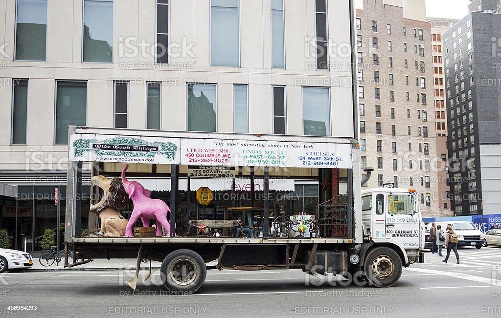 Olde Good Things Open Truck Manhattan stock photo