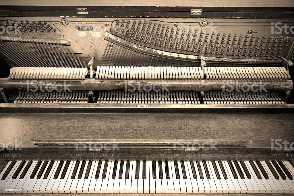Olde Tyme Piano stock photo
