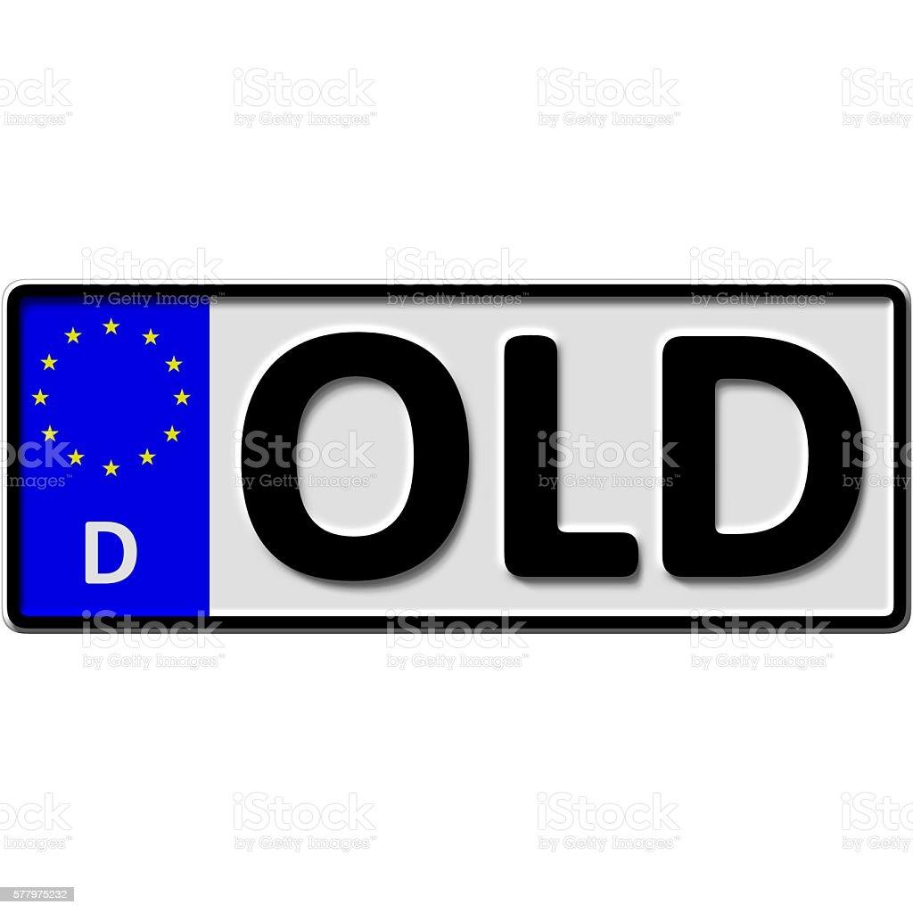 Oldenburg license plate number stock photo