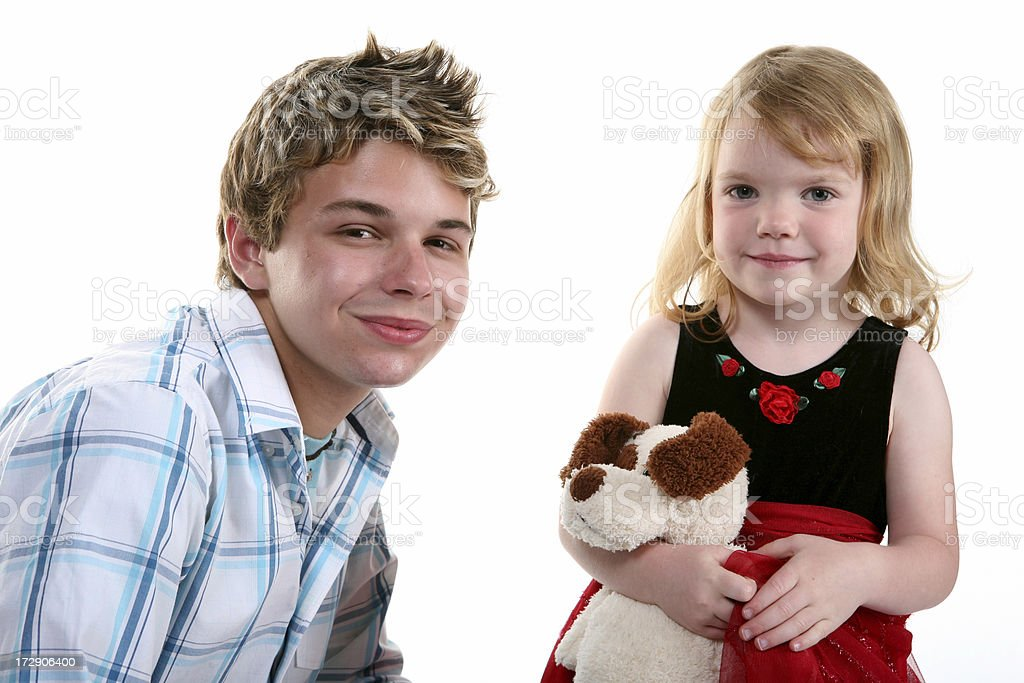 Older Brother royalty-free stock photo