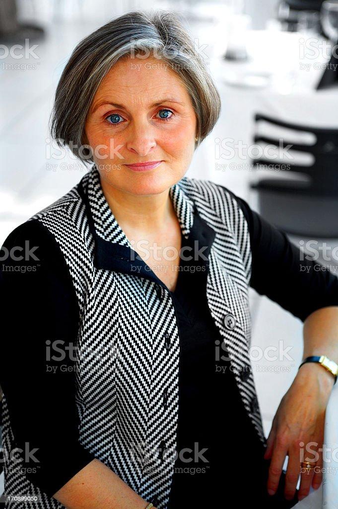 Older Businesswoman Taking a Break royalty-free stock photo