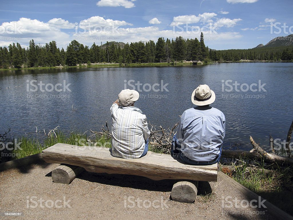 Older Couple in a Long, Healthy Retirement royalty-free stock photo