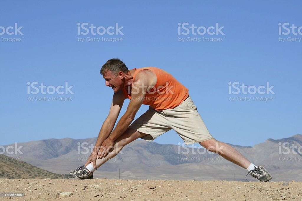 Older Fitness (Utah RedRockalypse) royalty-free stock photo