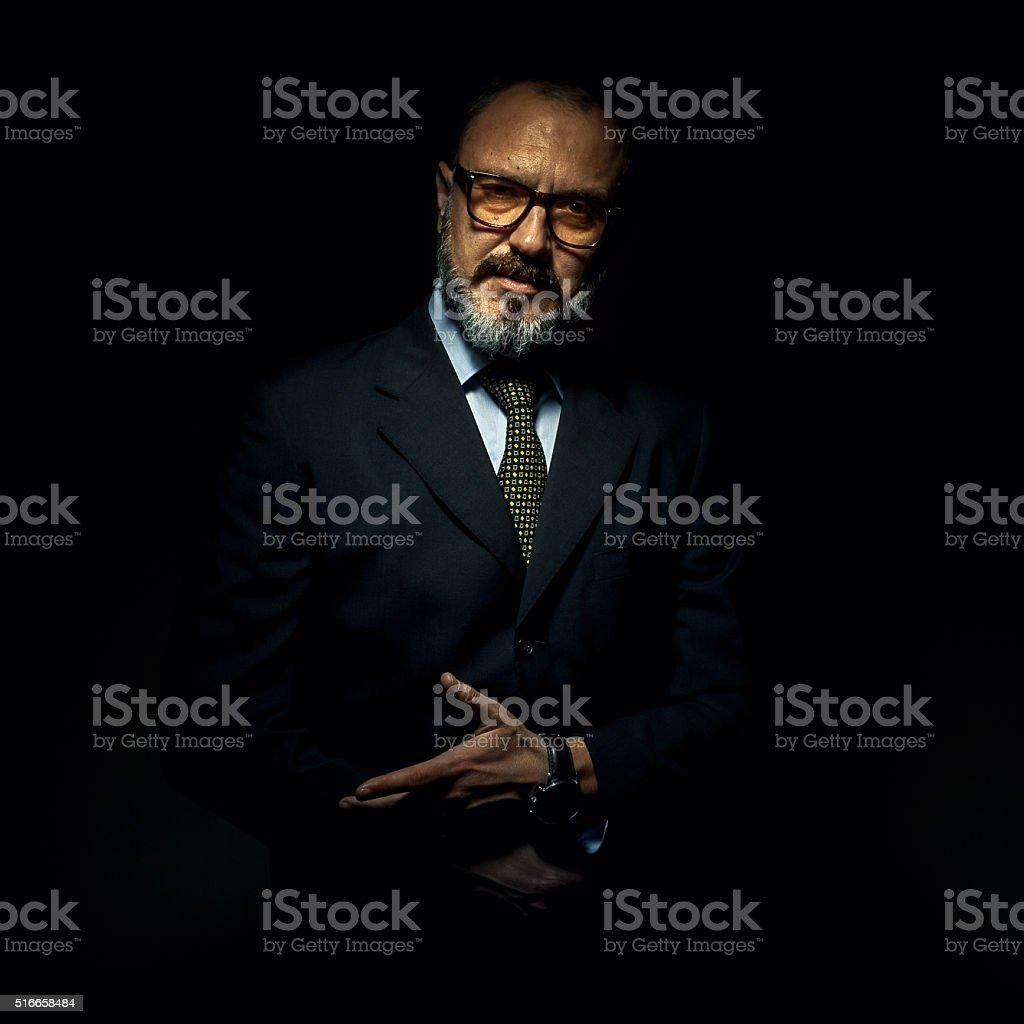 Older Gentleman Portrait stock photo