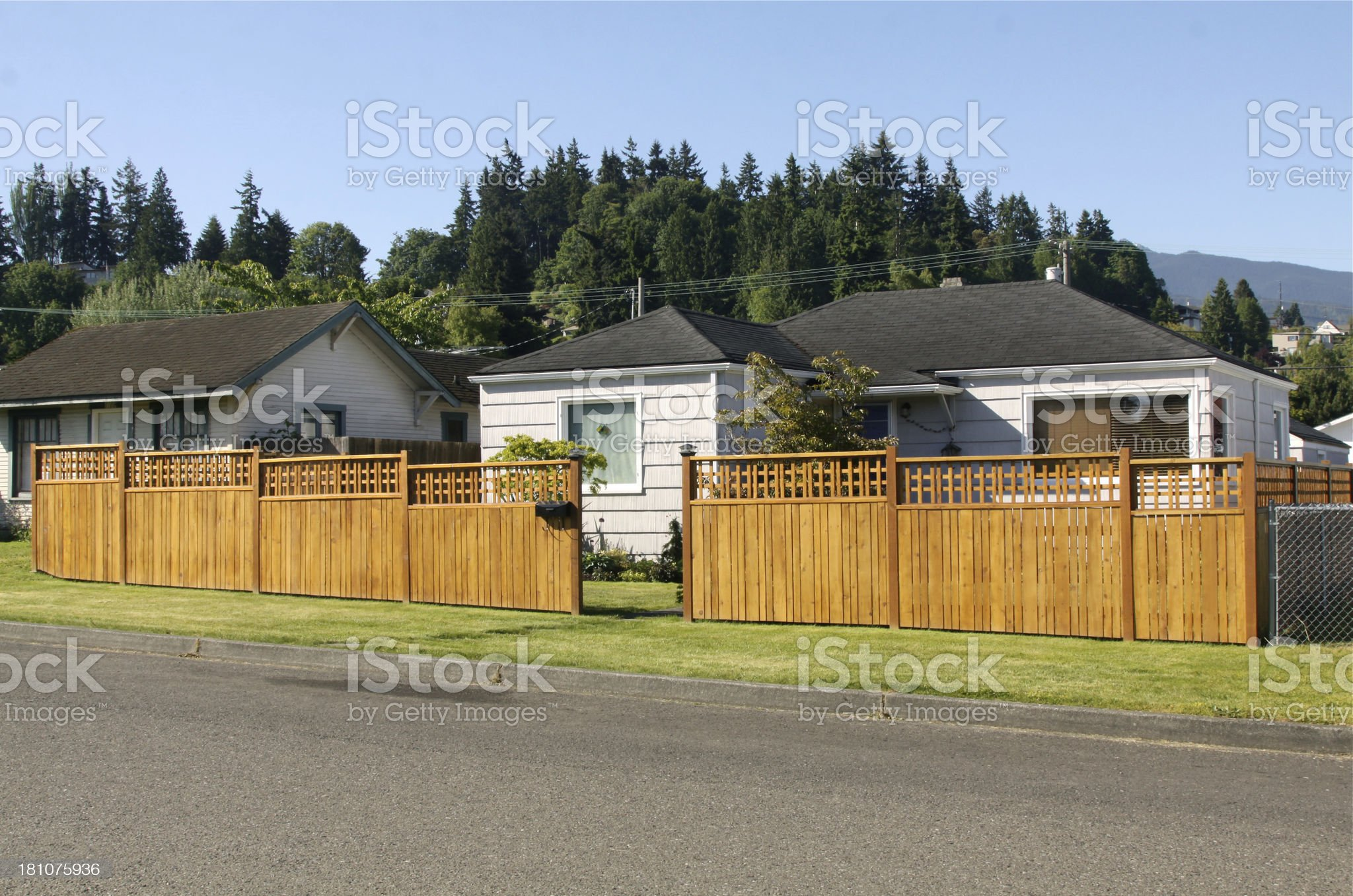 Older Home With New Fence royalty-free stock photo