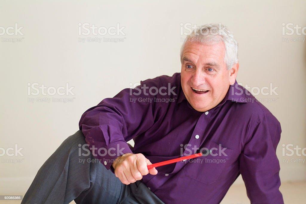older man smiling royalty-free stock photo