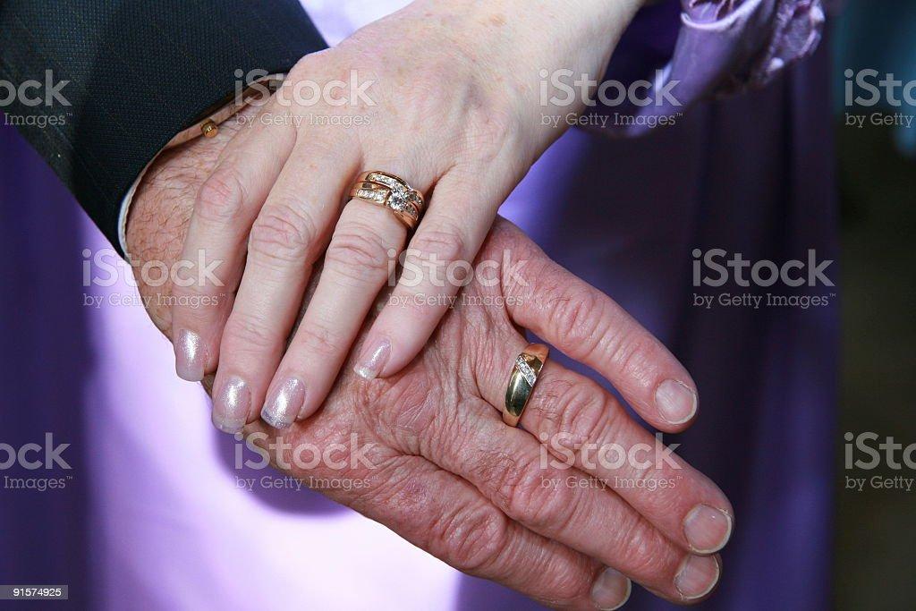 Older Newly Weds stock photo