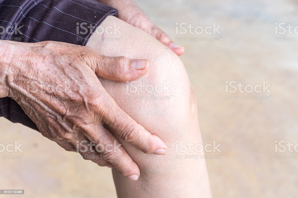 older person, Knee Pain stock photo