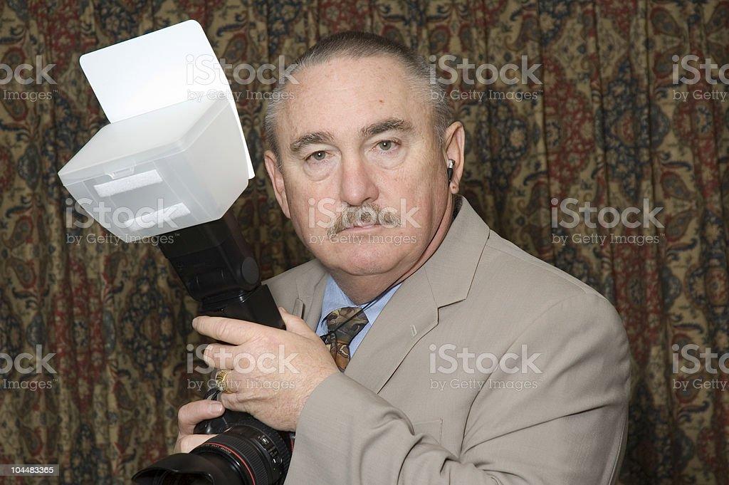 older wedding photographer royalty-free stock photo