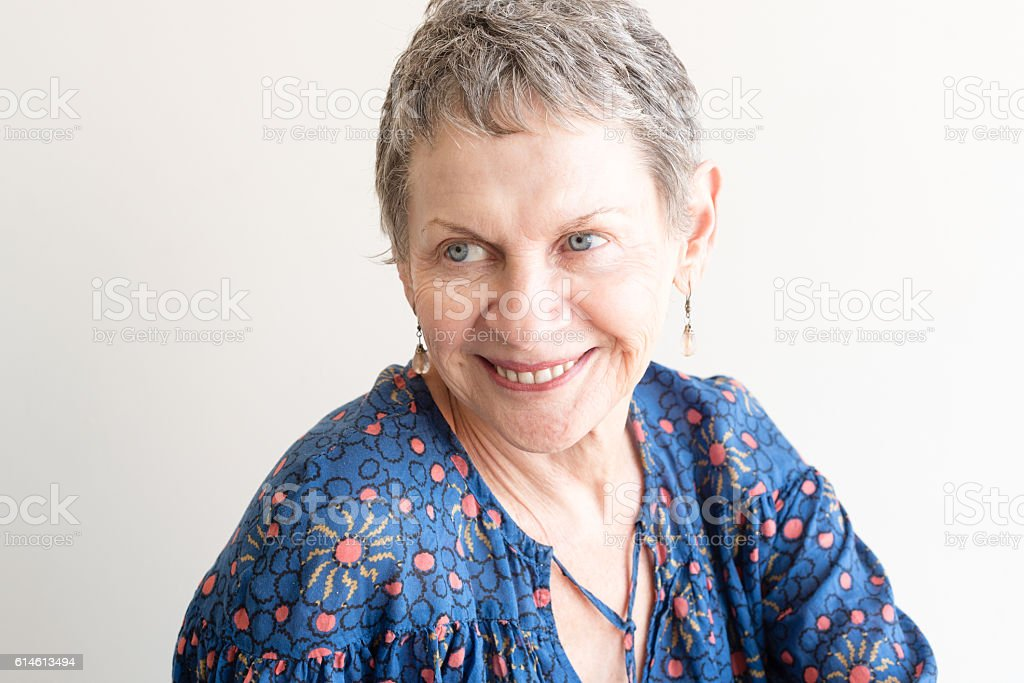 Older woman laughing stock photo