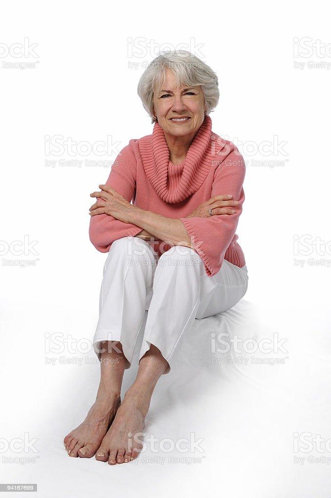 Older Woman Sitting royalty-free stock photo