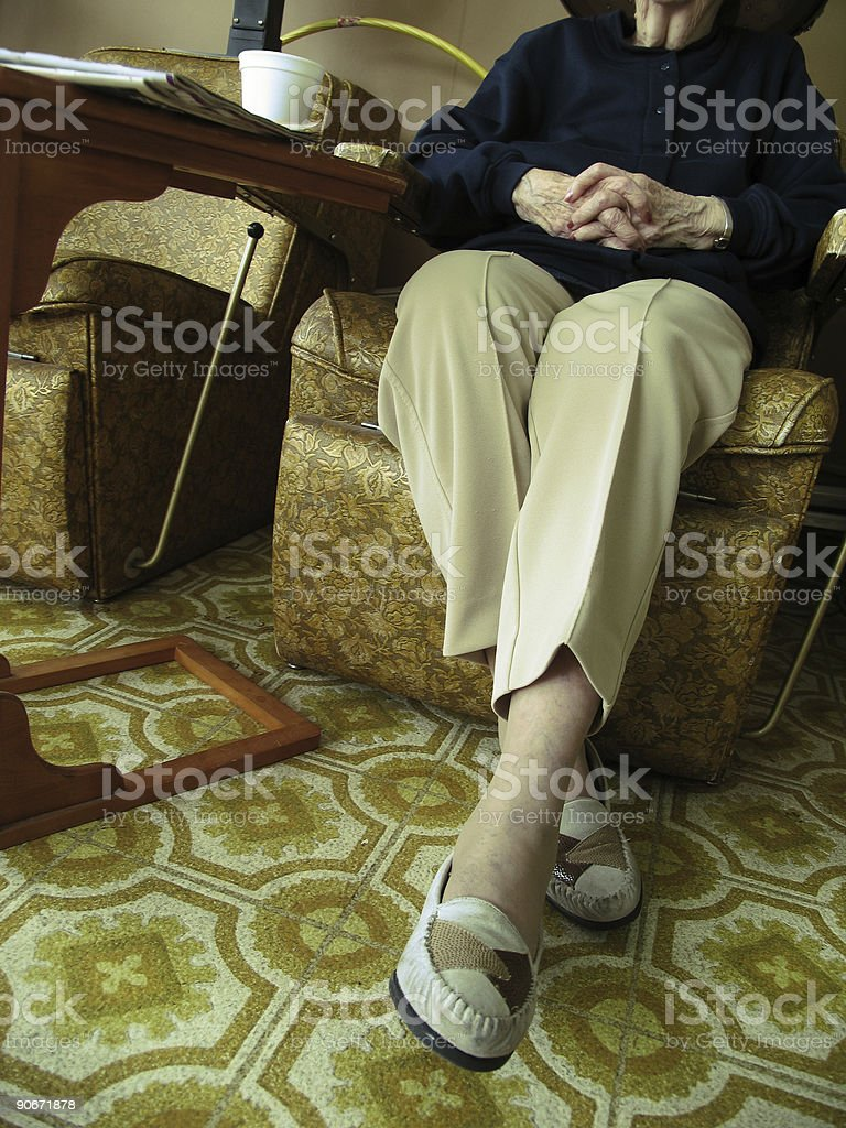 Older Woman Under Dryer royalty-free stock photo