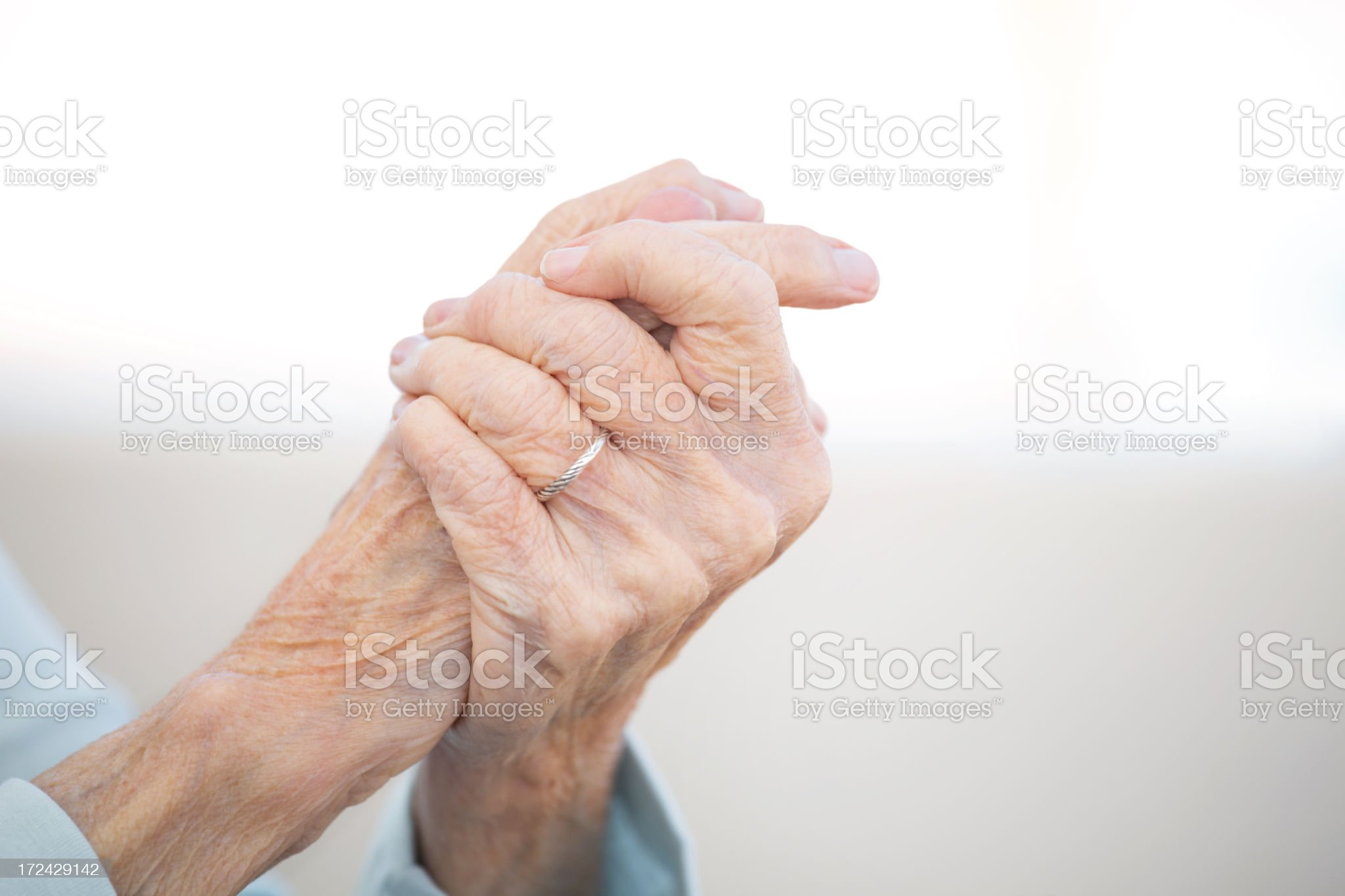 Older woman's hands royalty-free stock photo