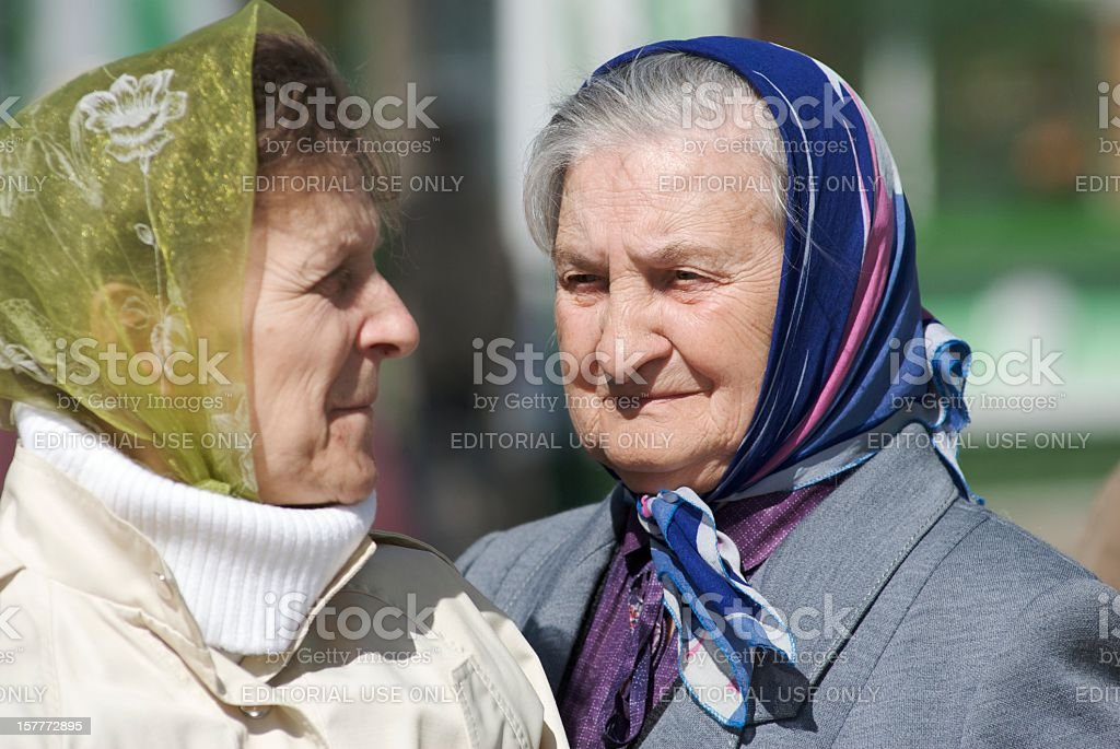 Femmes agees stock photo