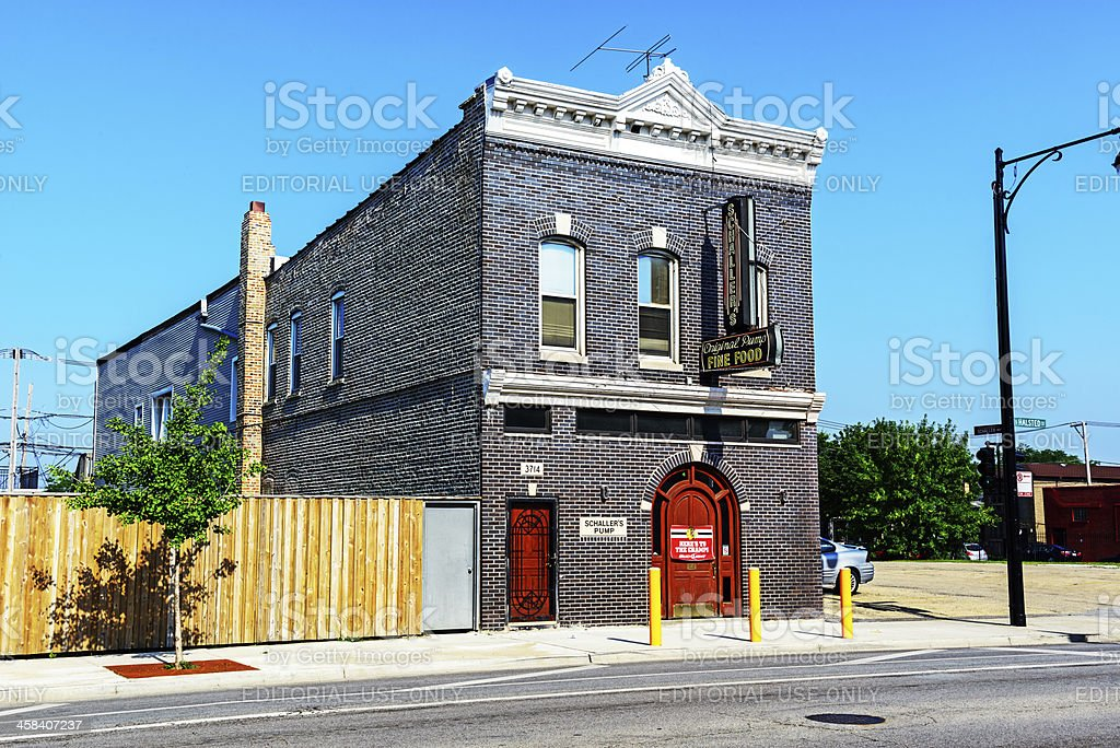 Oldest Pub in Chicago stock photo