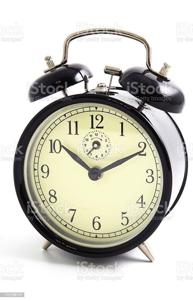 Old-fashioned alarm clock stock photo