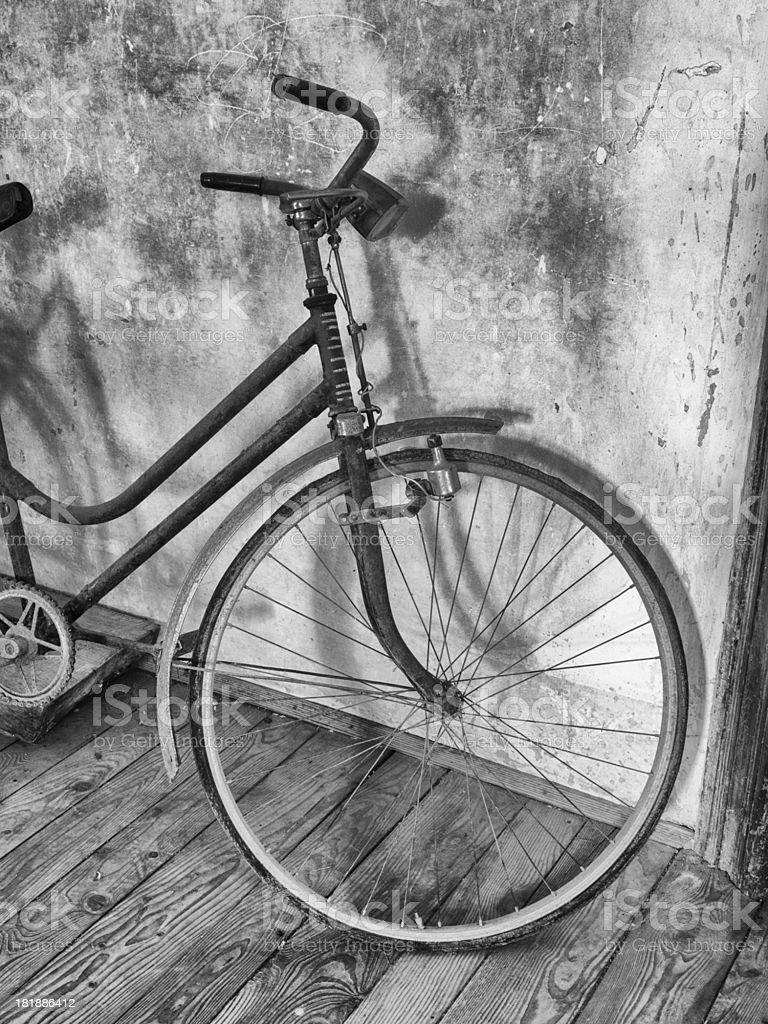 Old-fashioned bicycle royalty-free stock photo