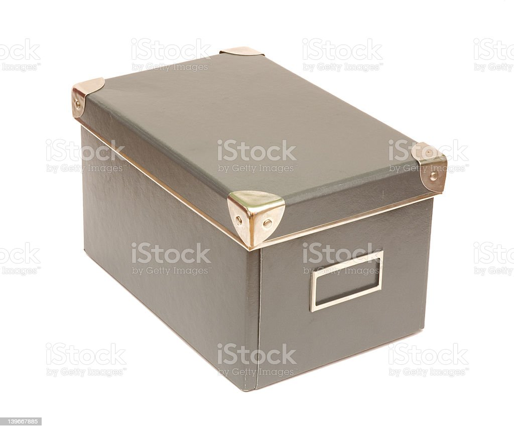 old-fashioned box royalty-free stock photo