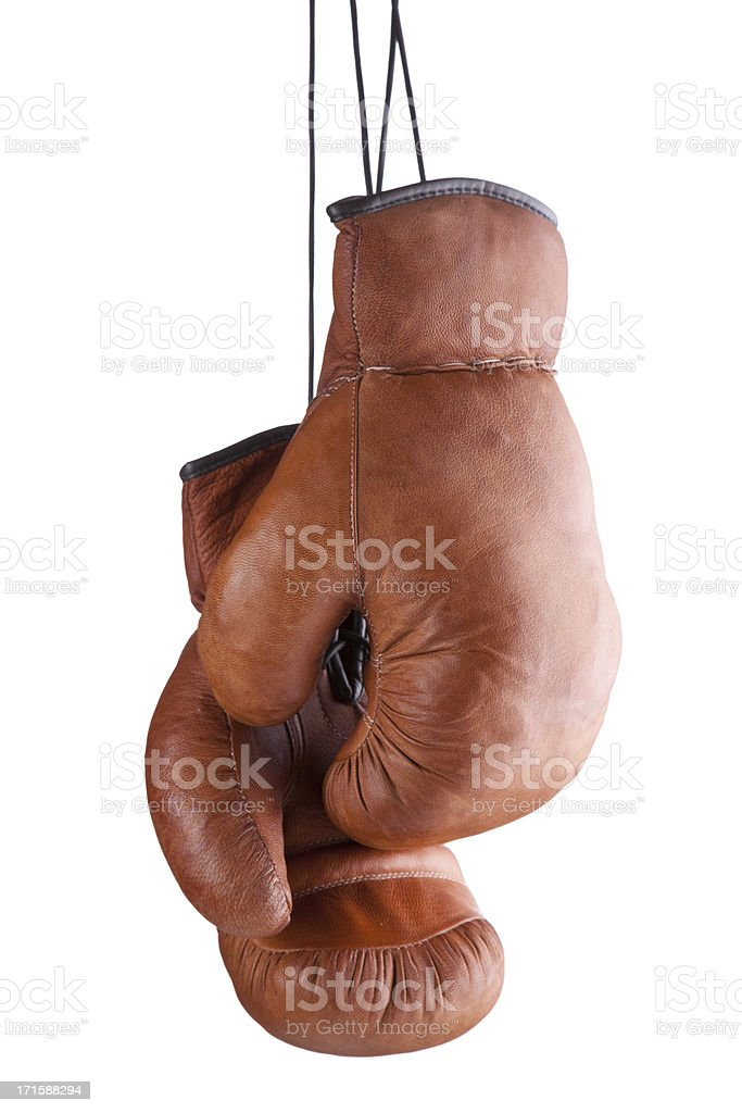 Old-fashioned Boxing Gloves stock photo