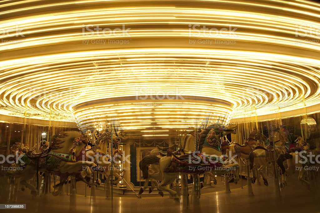 Old-fashioned Carousel or Merry-Go-Round stock photo