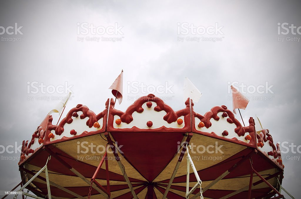Old-fashioned carousel stock photo