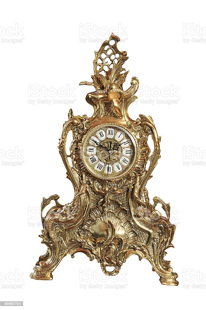 old-fashioned clock royalty-free stock photo