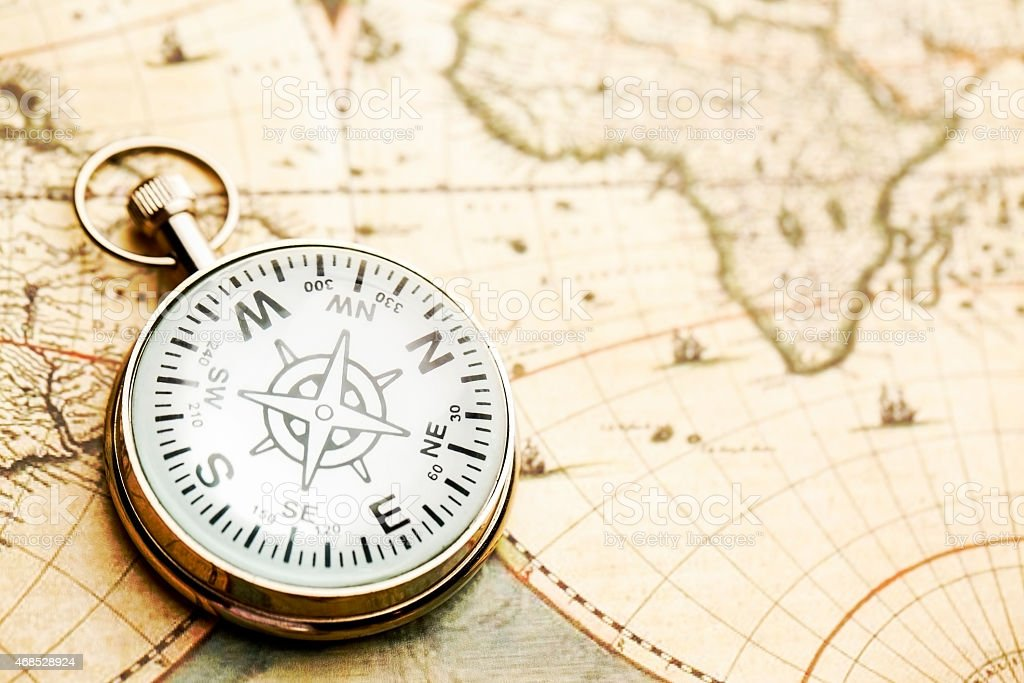 Old-fashioned Compass stock photo