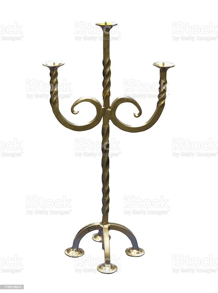 Old-fashioned cobre tradicional elegante isolado no branco foto de stock royalty-free