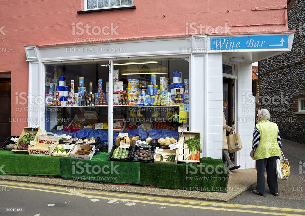 Old-fashioned corner shop stock photo