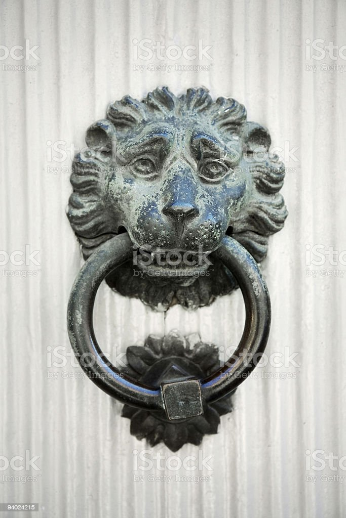 Old-fashioned door knocker royalty-free stock photo