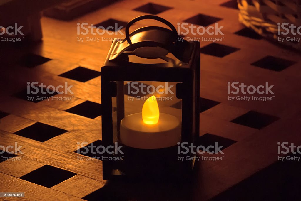 Old-fashioned electric lamp stock photo