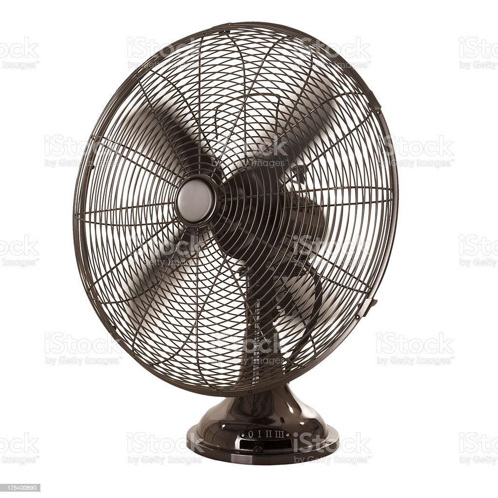 Old-fashioned Fan, isolated on white background stock photo