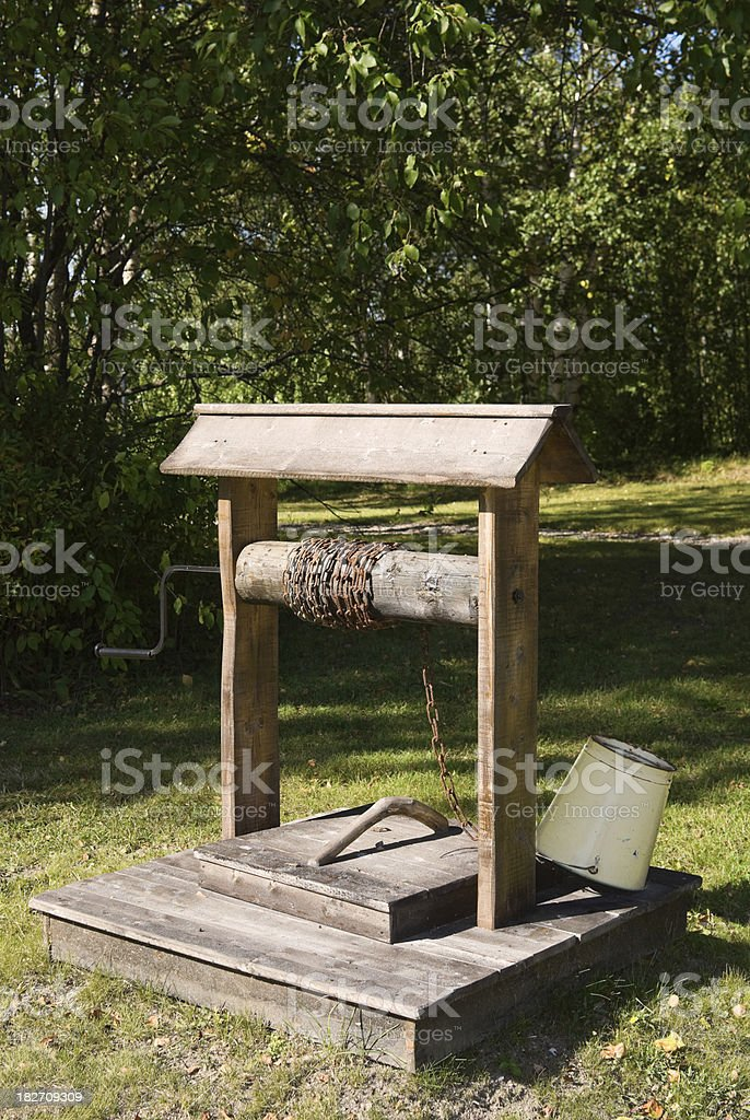 Old-Fashioned Hand Cranked Water Well royalty-free stock photo
