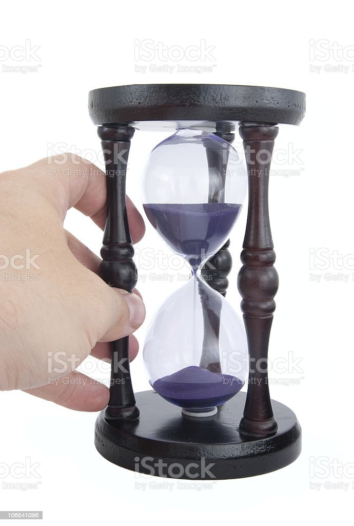 Old-fashioned hourglass royalty-free stock photo
