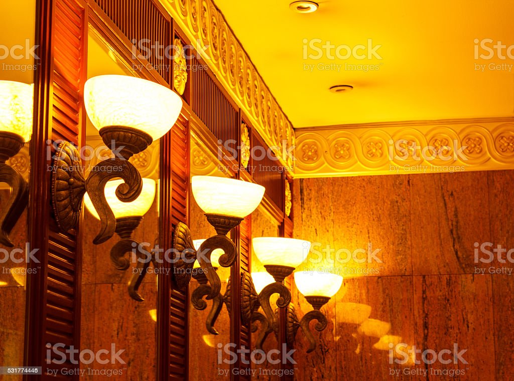 Old-fashioned lamps stock photo